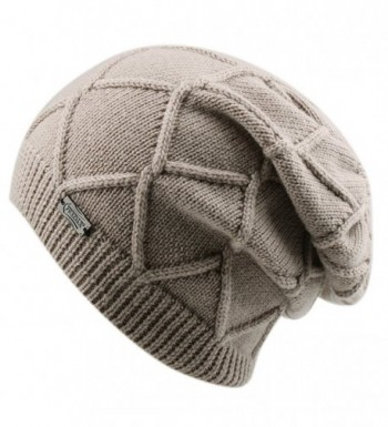 FURTALK Winter Knit Hats For Women- Cashmere and Merino Wool Slouchy Beanie Skull Hat Caps Designed - A-kakhi - CP1854899KS
