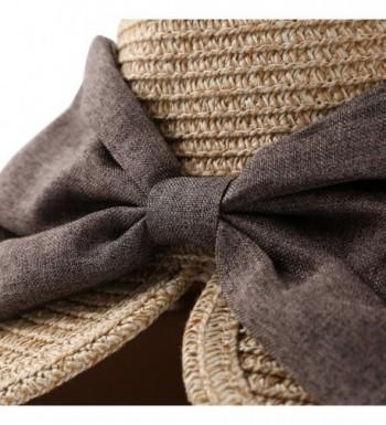 Aerusi Bowknot Panama Summer Trilby in Women's Sun Hats