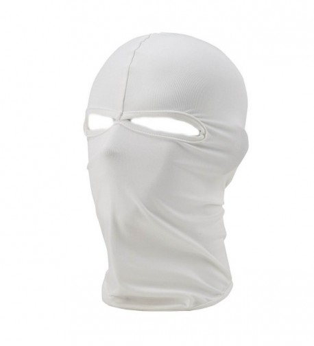 Xiabing Balaclava Breathable Lightweight Lycra Ski Full Face Mask For Cycling Sports - White - CR12J92EJNF