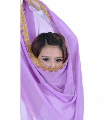 AvaCostume Chiffon Shawl Headscarf LightPurple