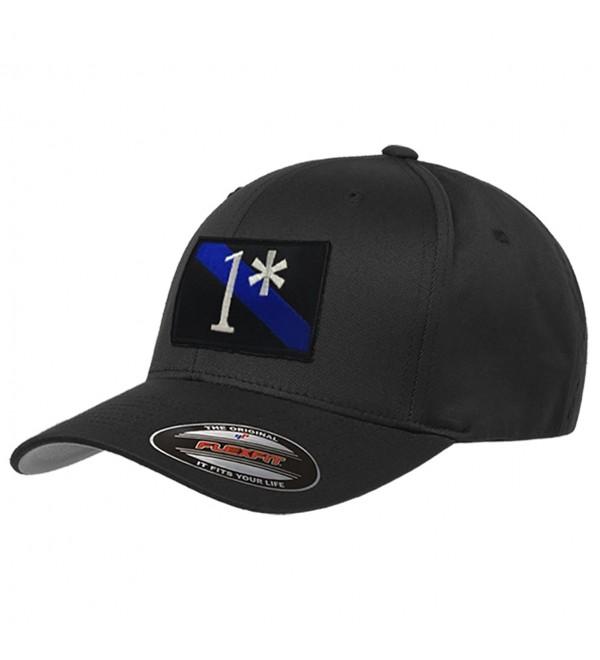 1 Asterisk Thin Blue Line Flexfit Hat - CK18326TKC6