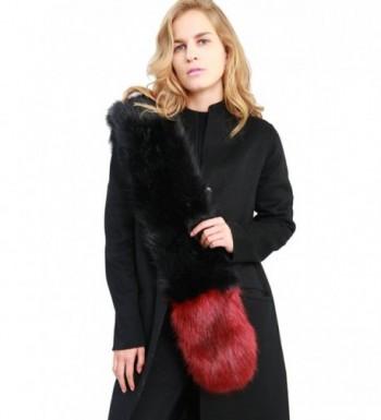 MissShorthair Womens Winter Colorful Collar