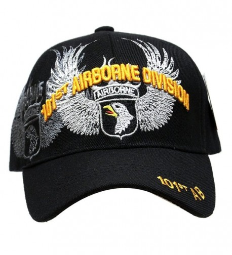 Embroidered U.S. Army Veteran Marine Navy Air Force Military U.S. Warriors Baseball Cap Hat - AIRBORNE 101st - CL11IVD26CP