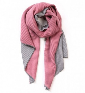 EUPHIE YING Womens Rich Solid Color Long Soft Spring Scarf - Paleviolet+/Dimgrey - C71867XELM6