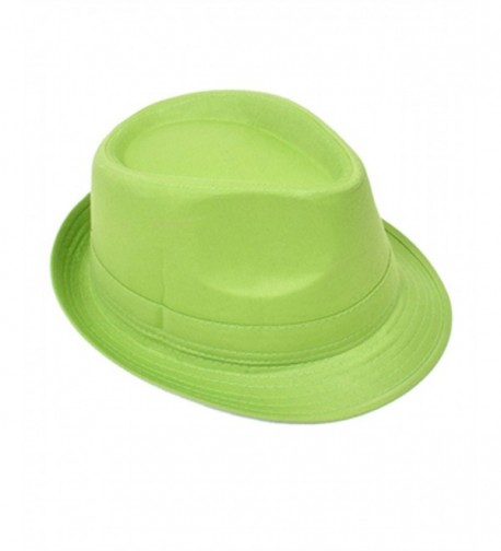 Playful & Colorful Fedora Hat - Green - CT11803OAKV