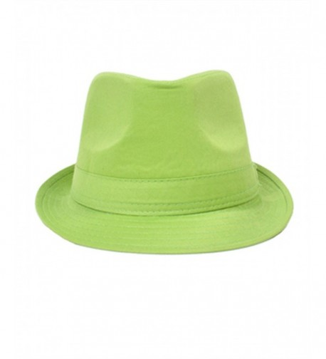 Playful Colorful Fedora Hat Green