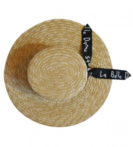 MAISON COCO Natural Adjustable Letter in Women's Fedoras