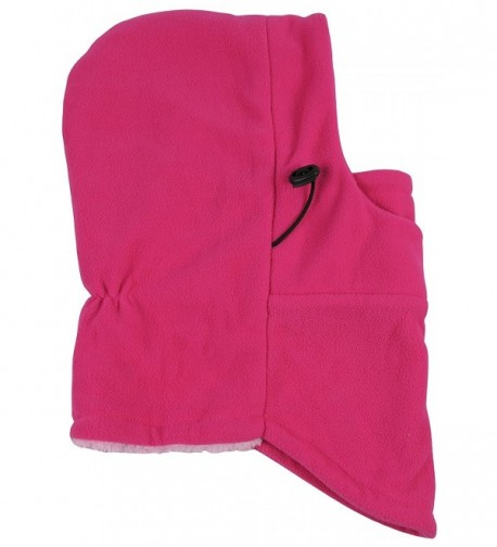 N'Ice Caps Adults Unisex Sherpa Lined Multi Layered Fleece Balaclava Face Mask - Fuchsia - CG12LJLIJX5