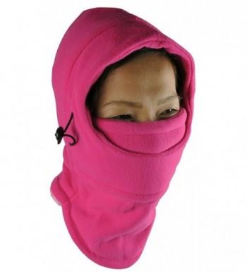 NIce Caps Layered Balaclava Fuchsia in Women's Cold Weather Neck Gaiters