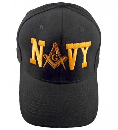 NAVY MASON Baseball Cap Black Hat Masonic Bumper Sticker - CU12O6FMNHX