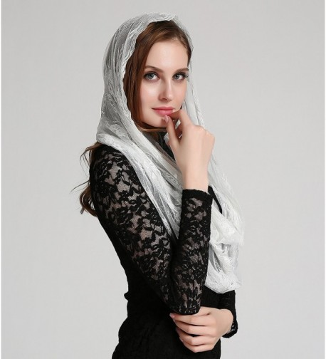 Catholic chapel infinity mantilla floral in Fashion Scarves