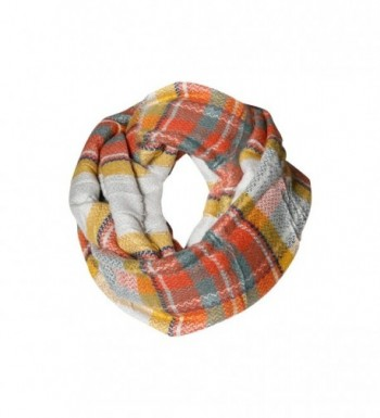 AutumnBlend Plaid Tartan Infinity Scarf Funky Monkey Fashion Warm Cozy Scarves - C51874U4D70