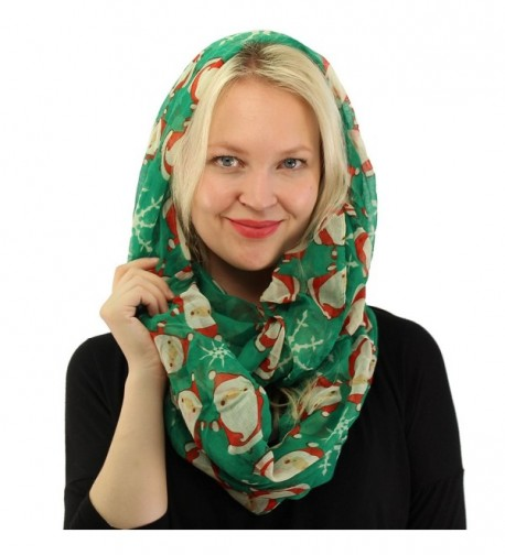 Cartoon Christmas Snowflake Infinity Holiday in Fashion Scarves