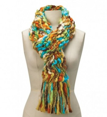 Womens Colorful Open Weave Scarf