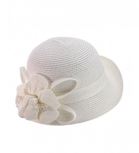 NYFASHION101 Cloche Bucket Flower Ribbon