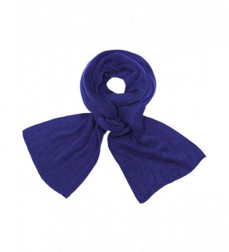 Dahlia Women's Super Soft Cashmere-Feel Winter Scarf - Solid Color - Blue - CR11QWMLBX7