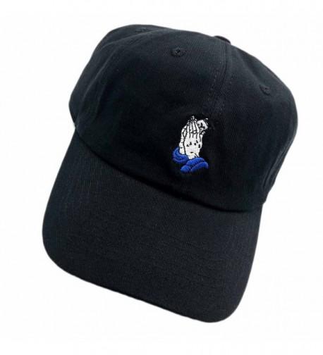 C Dad hats Baseball Cap Cartoon Cat Pray Embroidered Adjustable Snapback Unisex - Black - C9187G80K5K