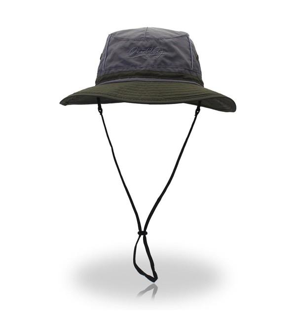 TARTINY UPF50+ Fishing cap Fashion Cool Outdoor Sun Hats Summer Outdoor Sun Hat - Deepgrey+armygreen - C517AACUOX9