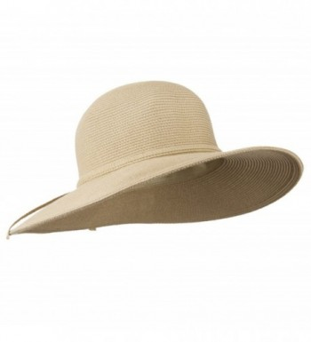 Solid Cotton Paper Braid Flat in Women's Sun Hats