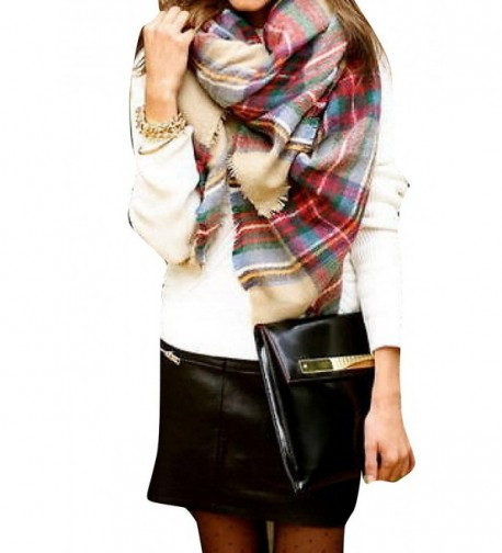 Plaid Checked Tartan Scarf Shawl