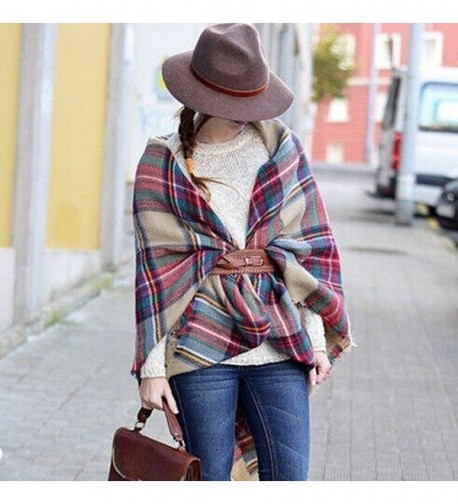 Plaid Checked Tartan Scarf Shawl in Cold Weather Scarves & Wraps