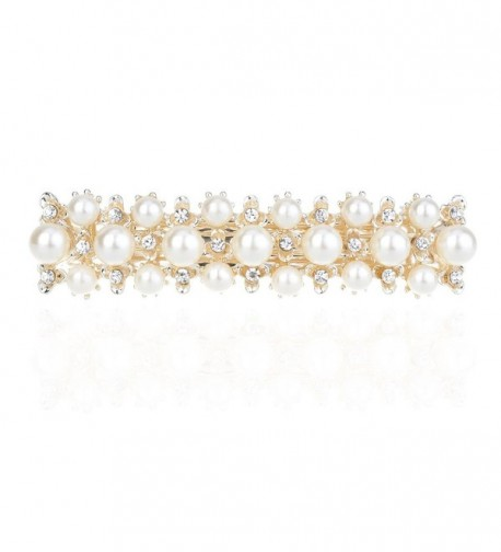 IPINK Rhinestone Crystal Hair Clip Pearl Barrette Hair Accessories - Style 1 - C611W1F9T3D