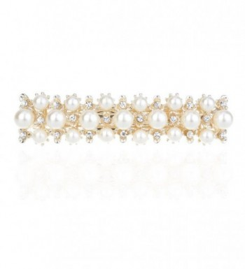 IPINK Rhinestone Crystal Hair Clip Pearl Barrette Hair Accessories - Style 1 - C611W1F9T3D
