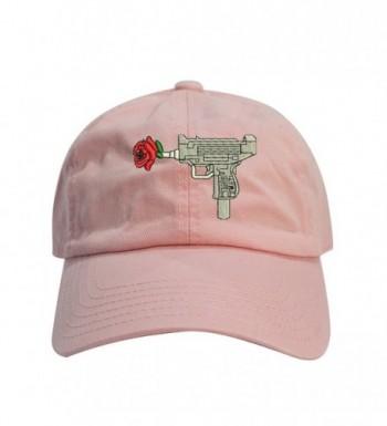 ChoKoLids Gun Rose Dad Hat Cotton Baseball Cap Polo Style Low Profile - Pink - CK18655EIWL