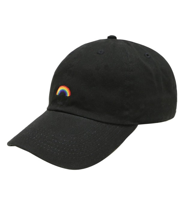 City Hunter C104 Rainbow Cotton Baseball Cap 12 Colors - Black - C012HRV7N5V