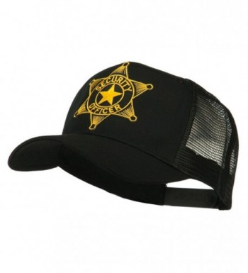 Security Officer Star Patched Mesh Back Cap - Black - CB11ND504GB