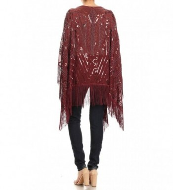 Anna Kaci Oversized Evening Burgundy Onesize