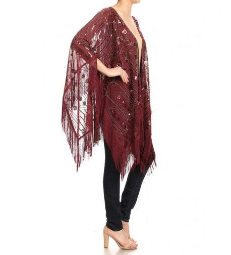 9d72c9d993e5 Womens Oversized Hand Beaded and Sequin Evening Shawl Wrap with ...
