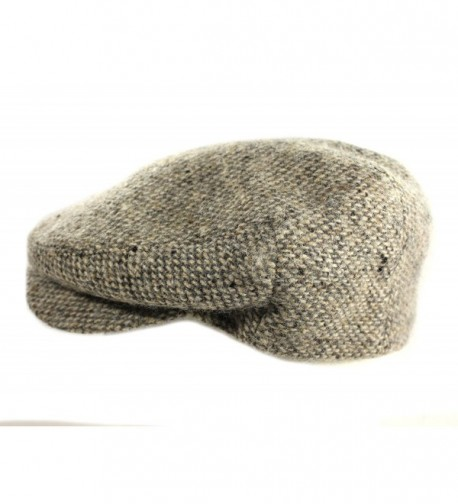 Biddy Murphy IVY Cap 100% Wool Tweed Tan Fleck Jonathan Richards Irish Made - CK17Z3Q05SU