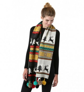 S 723 06 Christmas Reversible Scarf Black