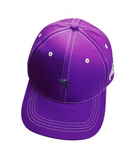 OutTop Fruit Embroidery Cotton Baseball Cap Boys Girls Snapback Hip Hop Flat Hat - Purple - CX12H64AYS1