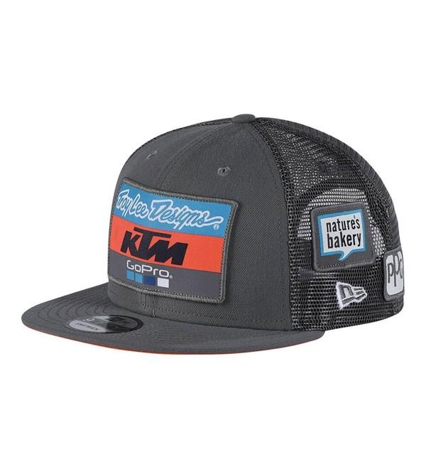 Troy Lee Designs Men's 2018 KTM Team Snapback Adjustable Hats - Charcoal - CO189IN8L3S