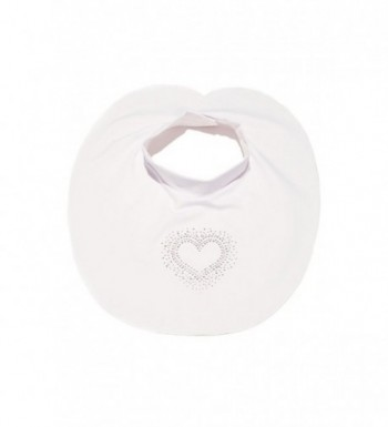 Sunbib Glamour UPF 50+ Sun Protection for Women's Neck and Chest One Size - White Heart - C3127D93739