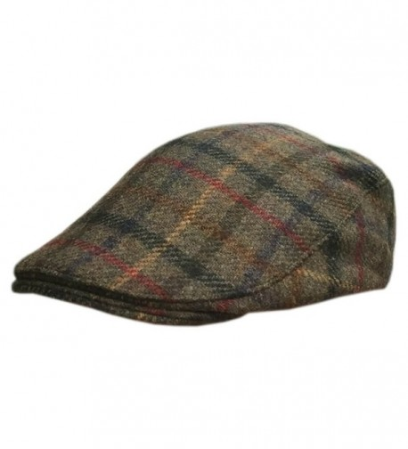 Carnaween Donegal Flat Cap- Traditional Irish Tweed Hat- Plaid - CV187A6TOK6