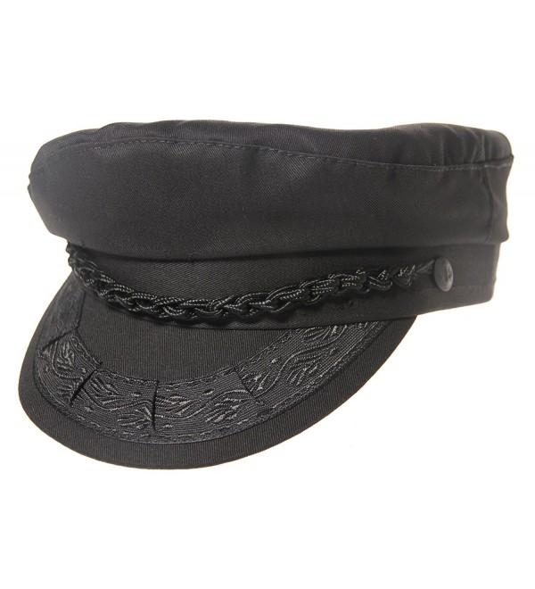 Aegean Authentic Greek Fisherman's Cap - Cotton - Black - Black - C511DAGWKJ1
