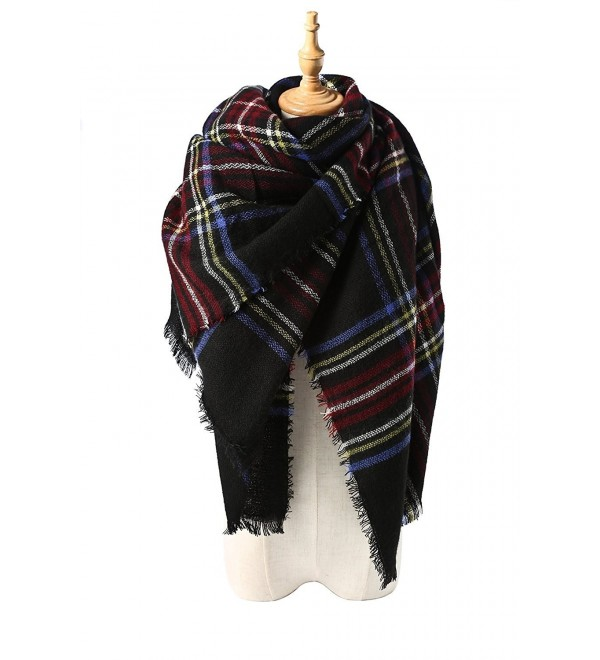 Spring fever Large Tartan Fashion Women Scarf Lovely Best Gift Scarf Wrap Shawl - I Navy Blue - C912BM75OZ7