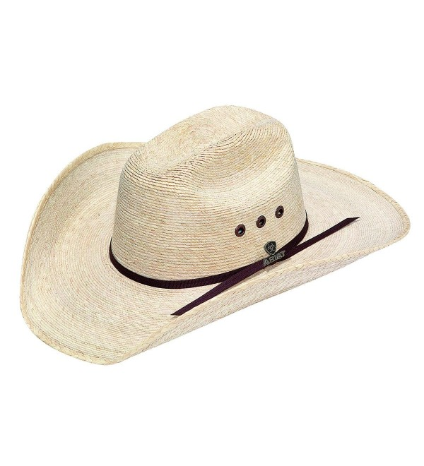 Ariat Men's Natural Palm Tophand Straw Hat - Natural - CD127NM41WR