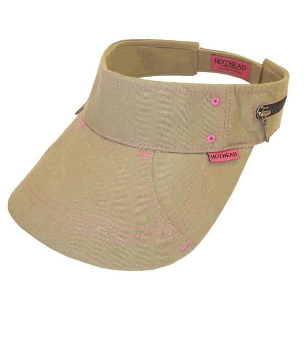 Hothead Large Brim Sun Visor Hat - Biowash in Khaki - CJ11LY27H0V
