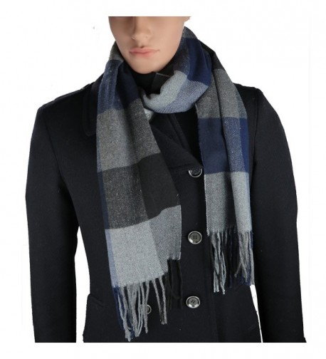 Cashmere-Feel Acrylic Winter Scarf For Men And Women In 8 Plaid Prints By Debra Weitzner - Plaid 03 - CK185QDMHIO