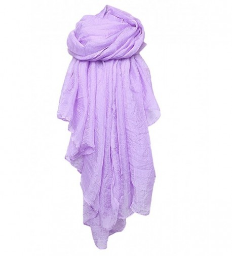 Spikerking Solid color Sheer scarf Four Seasons Soft scarves shawl beach towel - Light Violet - CG12BFHHNY9