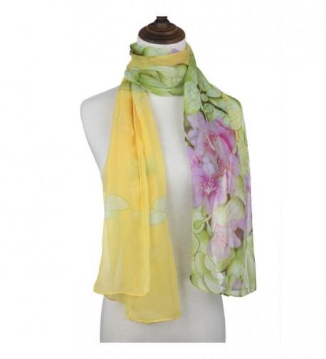 ChikaMika Scarves Floral Shawls Fashion