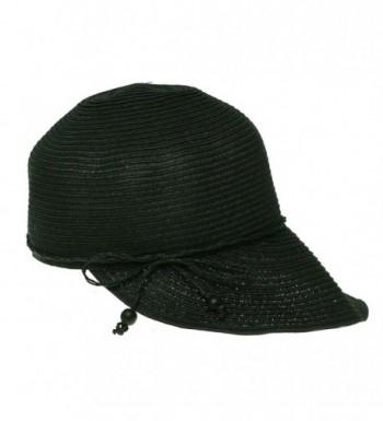 August Hats Women's Shore Thing Framer Hat Visor One Size Black - CH125W8G9ZL