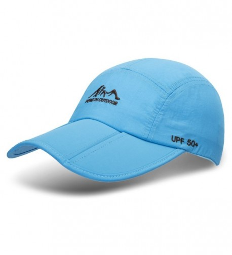 TARTINY UPF50+ Protect Sun Hat Unisex Outdoor Quick dry Collapsible Portable Cap (A1-light blue) - CW183N7AT2S