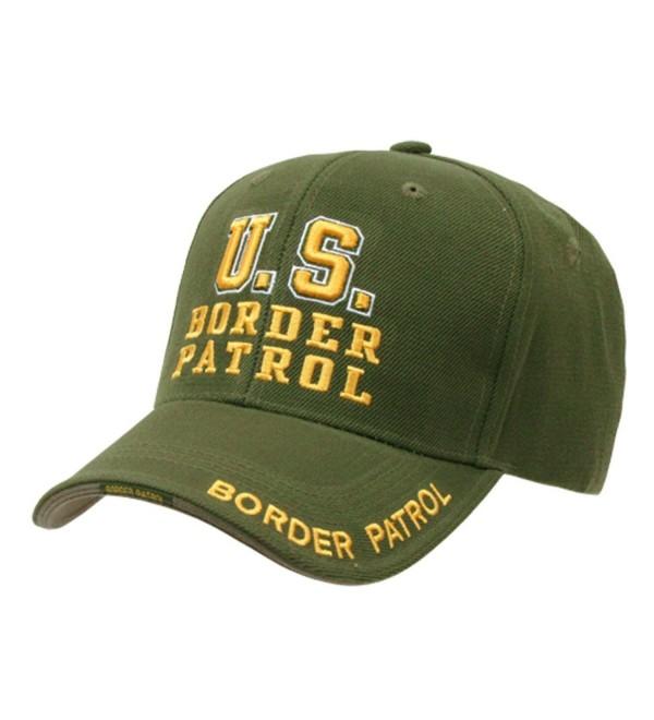US Border Patrol Officer adjustable baseball cap green & yellow - C7112BWD0F9