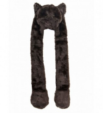 Winter Plush Animal Hoods Gloves