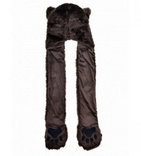 Winter Plush Animal Hoods Gloves in Fashion Scarves